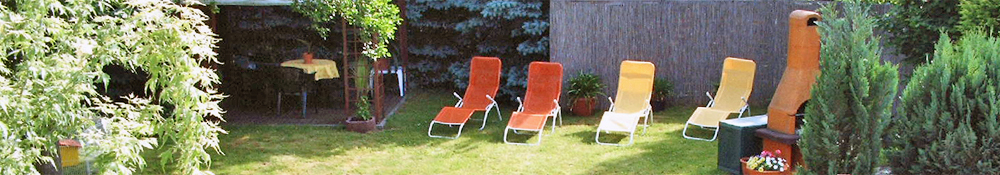 Pension Ohorn - Entspannen im Garten mit Grill